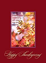 .A PROFESSIONAL DESIGN FOR PERSONAL OR BUSINESS USE. This boxed set contains 25 cards and 26 envelopes with gold foil lining. Send a Happy Thanksgiving wish to family, friends or business associates. SEND A MESSAGE WITH A VERSE THAT IS PERFECT FOR TH...