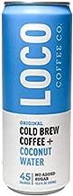Loco Coffee Cold Brew Coffee + Coconut Water (12 12 fl. oz. cans) | Loco Coffee | Gluten & Dairy Free | Clean Energy & Low Acidity | No Added Sugar | Caffeine+Electrolytes | No Refrigeration Required