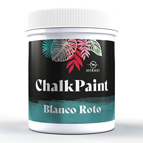 CHALK PAINT Pintura efecto tiza al agua mate (500ML, BLANCO ROTO)
