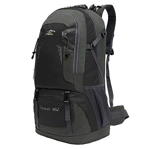 OcioDual Mochila de 60 litros para Senderismo Marcha de Montaña Trekking Camping Deporte al Aire Libre ergonómica Negra