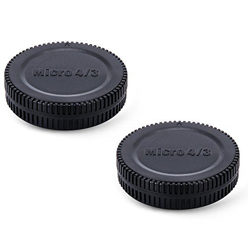 2 Pack JJC Body Cap and Rear Lens Cap Cover Kit for Micro 4/3 DSLR Cameras and Micro 4/3 Mount Lenses