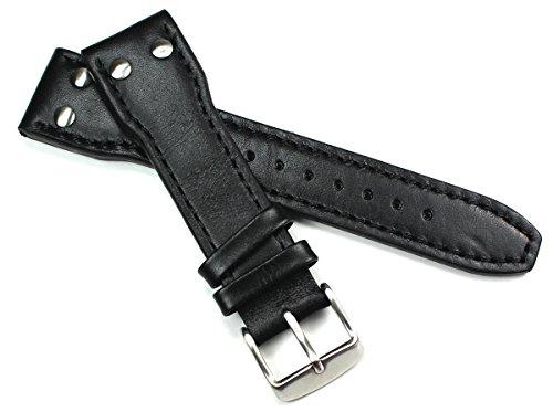 Sulla Pilot IW - Cinturino per orologio da uomo, in pelle bovina, 24 mm,...