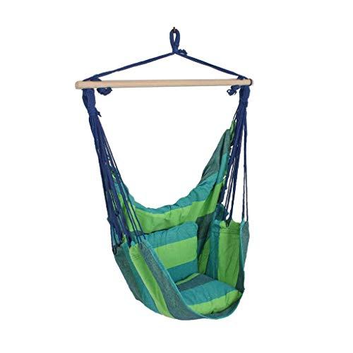 Onbekend hoogwaardig terras plafond hangstoel hout textiel katoen polyester blauw harms 507016