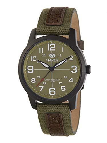 Reloj Caballero Marea Trendy. Cuero Verde B54152/4