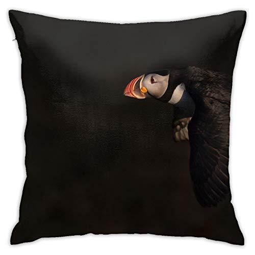 Perfect household goods Atlantic Puffin Fraterkula - Taie d'oreiller décorative pour la maison, le canapé, le lit, la voiture - 45,7 x 45,7 cm
