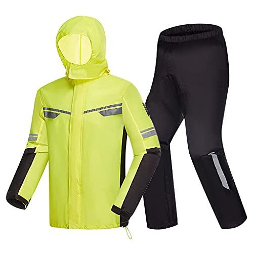 BHBXZZDB Rainwear,Rain Suit for Men Women Lightweight Rain Gear Jacket and Pants Portable Waterproof Raincoat for Bike Cycling Motorcycle Walking Work(Size:XLarge)