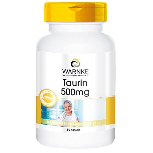 Taurin Kapseln 500mg - hochdosiert - 60 Tabletten - Aminosäure