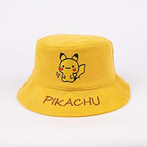 Sombrero para niños Modelos de otoño e Invierno cálido algodón Engrosado Sombrero de Pescador Coreano Lindo Dibujo Animado bebé Pikachu Sombrero Marea