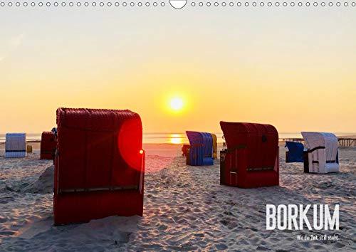 Borkum - Wo die Zeit still steht. (Wandkalender 2020 DIN A3 quer): Sand, Meer und Strandkörbe auf der größten Nordseeinsel (Monatskalender, 14 Seiten ) (CALVENDO Natur)