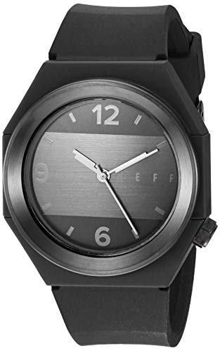 neff Automatic Stainless Steel and Silicone Sport Watch, Color:Black (Model: BKBKNF0225)