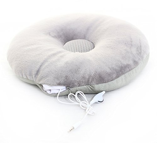 MusicBean Soft Round Bean Music Pillow for iPod, iPad or MP3 Player With volume controll