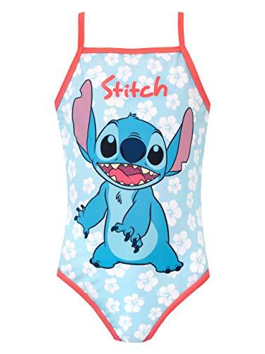 Disney Bañador para Niña Lilo & Stitch Azul 8-9 Años
