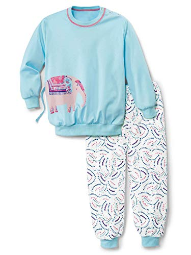 CALIDA Unisex Baby Toddlers Elephant Pyjamaset, Crystal Blue, 116