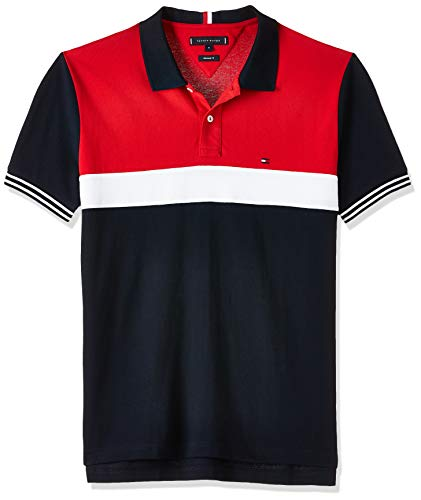 Tommy Hilfiger Colorblocked Regular Polo, Blu (Blue A), XX-Large Uomo