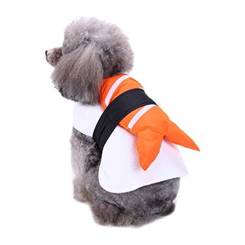 Minsa 1 x Haustier-Hundekleidung, kreativer Sushi-Stil, lustig, Haustier-Outfit für kleine und große Hunde