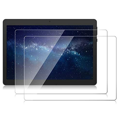 【2 PACK】DETUOSI 10.1 Tablet Screen Protector for Winsing 10, WECOOL 10.1, Lectrus 10.1, Hoozo 10.1,Dragon Touch Max10,ZONKO 10.1,YELLYOUTH 10.1,Haehne 10,BeyondTab 10.1,BENEVE 10.1 Tempered Glass Film