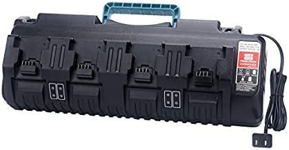 4-Port Multi Voltage Lithium Ion Battery Charger for Milwaukee M12 & M18 48-59-1812 18V&12V Fuel Gauge XC Battery