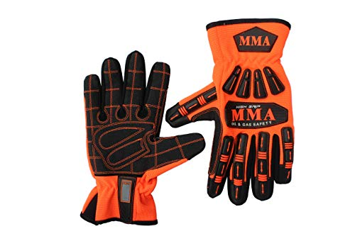 TPR Protector Impact Gloves Anti Vibration Heavy Duty Work Impact & Vibration Reduction High-Dexterity Hand protection (Size- X-Large)