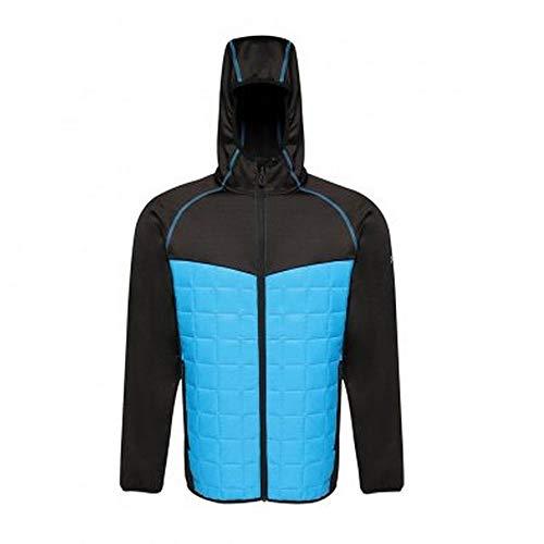 Regatta Professional X-Pro Veste hybride à capuche pour homme avec isolation et fermeture à glissière Bleu méthyle Noir Taille L