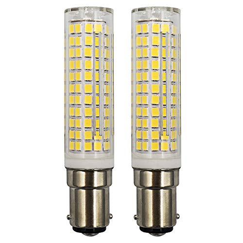Glühbirnen B15D LED Dimmbar Kaltweiss 6000K Lampe Ersetzt B15D 60W 75W 100W Halogenbirne 220V-240V Für Nähmaschinenleuchten Ventilator - 2er Stück [MEHRWEG]