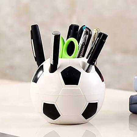 Yicare Organisateur de bureau multifonction en forme de ballon de football Pot à crayons Organiseur de bureau en plastique