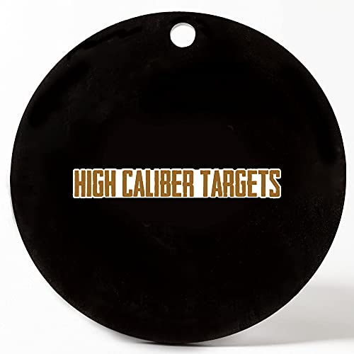 High Caliber AR500 Geometric Steel Targets - Gong, Half gong, Circle, Square & Octagon 1/2, 3/8, 1/4 inch Thickness for Shooting - Made in The USA
