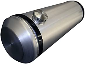 8x30 End Fill Round Spun Aluminum Gas Tank - 6 Gallon - Dune Buggy, Offroad, Sandrail, Trike, 1/4 NPT OFFSET Outlet - Made in the USA!