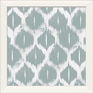 CANVAS ON DEMAND Gray Ikat II White Framed Art Print, 19