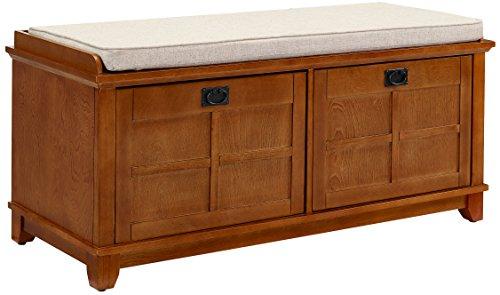 Crosley Furniture Adler Entryway Bench - Warm Oak