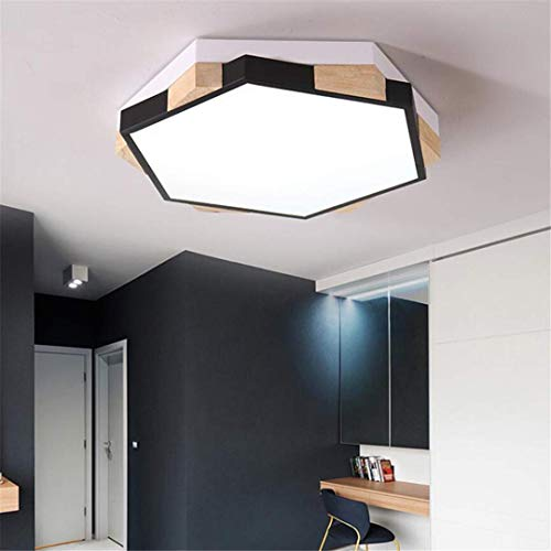 GD1 Plafonnier Noir Lampe de Chambre à Coucher pour Enfants Simple Creative Chambre Garçons Et Filles Éclairage Personnalité Géométrique Polygone Petit Appartement Plafond