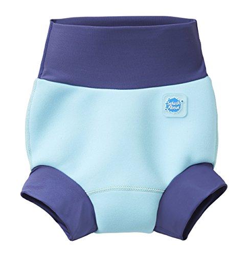 Splash About Unisex-Baby Neue Und Verbesserte Happy Nappy Windel Schwimmen Kostüm, Blue Cobalt