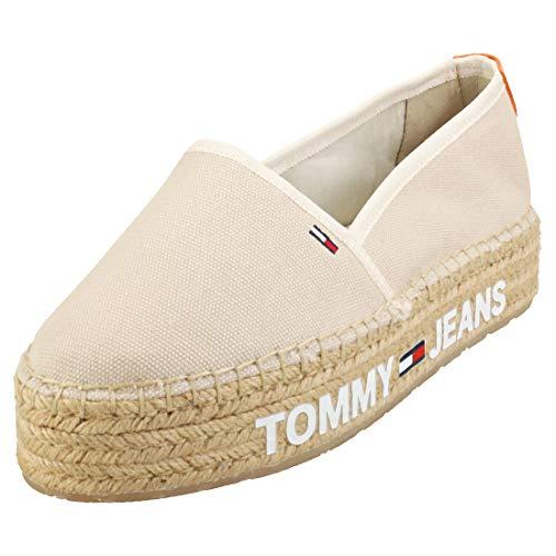 Tommy Jeans Surplus Mujeres Zapatos Alpargata Light Silt - 40 EU