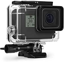 Kupton Waterproof Case for GoPro Hero 7 Black Hero 5 / 6 Accessories Housing Case Diving Protective Housing Shell 45 Meter for Go Pro Hero7 Hero6 Hero5 Hero 2018 Action Camera with Bracket Accessories