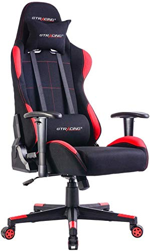 Gtracing ゲーミングチェア メッシュ 多機能 通気性抜群 ゲーム用チェア オフィスチェア パソコンチェアリクライニング 事務椅子 ヘッドレスト ランバーサポート ひじ掛け付き GTBEE-RED