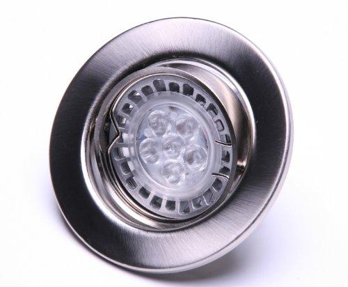 Led Einbaustrahler schwenkbar GU 10 230 Volt Lichtfarbe warmweiss wie 50 Watt Ledvance/Osram Led mit nur 3,6 Watt Geld und Energiesparen leicht gemacht
