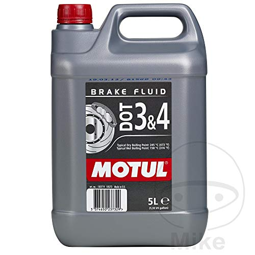 Motul 104247 Dot 3/4 Brake Fluid, 5 l