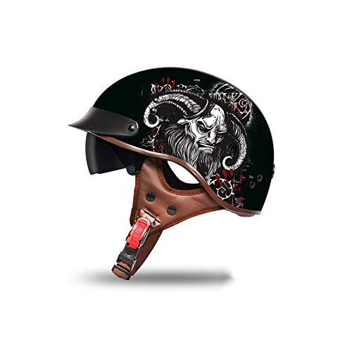 Fahrradhelme Helme für Skateboarding Unisexhalbhelm Retro-Style Zum Schutz des Kopfes (Color : #6, Size : 61-62cm)