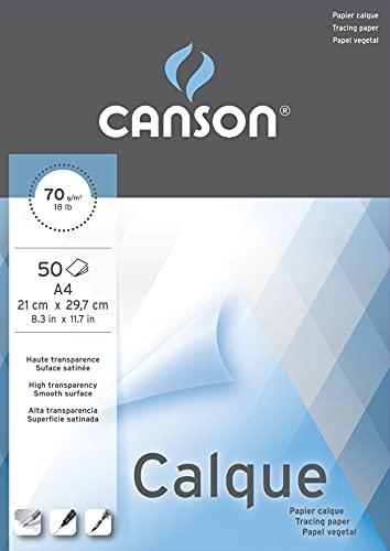 Bloc Enc A4, 50 Hojas, Canson Vegetal Graphic Microfino 75g