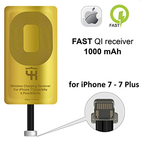 QI Receiver for iPhone 7 - 7 Plus - QI Wireless Receiver Adapter for iPhone 7