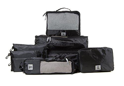 HAUPTSTADTKOFFER - Packhilfe – Koffer Organizer Set 8-teilig, mobiler Kleiderschrank, 3 multifunktionale Organizertaschen (S, M + L), Kosmetiktasche, 3 kleine Utensilien-Taschen