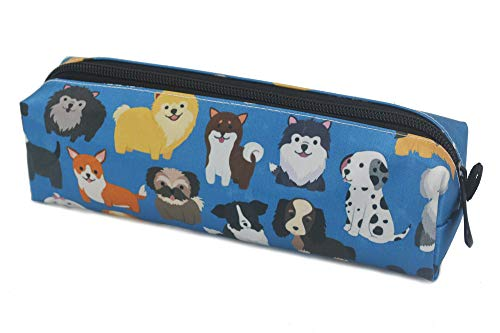 Kids Zippered Pencil Case for Boys and Girls Cute Dogs Students Pens Markers Holder for School and Travel
