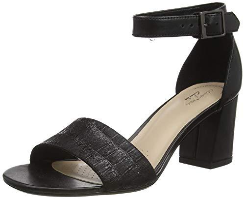 Clarks Damen Jocelynne Cam Pumpe, Black Interest Leather Combi,37 EU