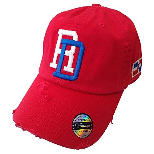 Vintage Adjustable Cap Dominican Republic RD (Red)