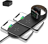 Cargador Inalámbrico 2 En La Almohadilla De Carga Rápida Inalámbrica De 1 10w, para El Reloj De Apple, para Iwatch 4/3/2 / iPhone 12/12 Pro MAX / 11/11 Pro / 11 Pro MAX/XS/XS MAX