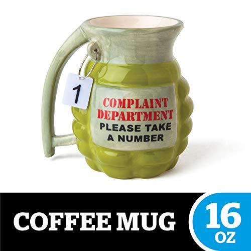 BigMouth Inc Grenade Mug - 'Take a Number' Ceramic Funny Coffee, Tea,...