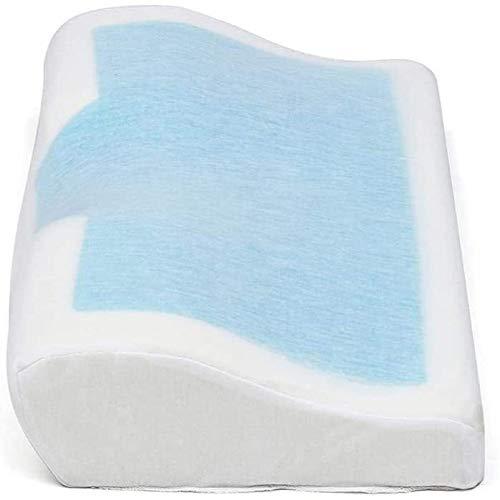 Memory Foam Kussen met verkoelende gel omkeerbare Orthopedische Neck Cervival Care Bed Kussen for Slapen Inclusief kussensloop dljyy (Color : White, Size : 50X30X10)
