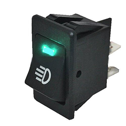 Mintice™ 12V Vert voiture moto lumière de brume bouton d'éclairage de l'interrupteur à bascule LED 4Pin