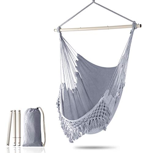 Chihee Hammock Chair Large Relax Hanging Swing Chair Cotton Weave for Superior Comfort Elegant...