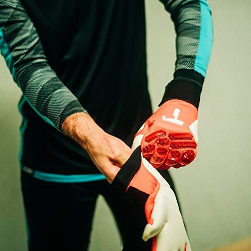 T1TAN Red Beast 2.0 Torwarthandschuhe mit Fingerschutz, Fußballhandschuhe Herren & Erwachsene - 4mm Profi Grip - Gr. 10 - 2