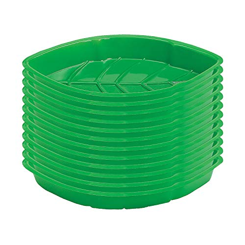 Price comparison product image Fun Express - Vacuum Plastic Palm Leaf Serving Trays for Spring - Party Supplies - Serveware & Barware - Serving Platters - Spring - 12 Pieces
